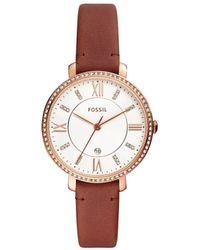 Fossil - Jacqueline Brown Leather Quartz Watch - Lyst