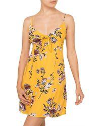 MINKPINK - Amalfi Tie Front Dress - Lyst