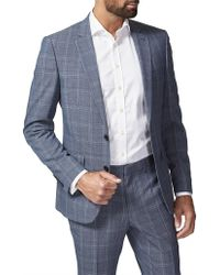 Simon Carter - 2b Sb Cv Wool/pol Pow Check Jacket - Lyst