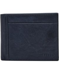 Fossil - Neel Large Coin Pocket Bifold - Lyst