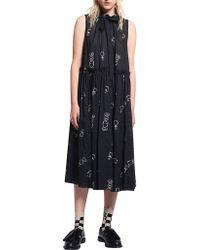 Karen Walker - Queens Knight Cotton Voile Dead Draw Dress - Lyst