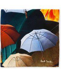 Paul Smith | Umbrella Print Pocket Square | Lyst