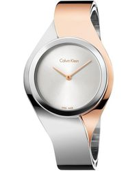 Calvin Klein - Senses Ladies Polished Silver And Rg - Lyst