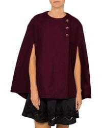 Ted Baker - Cieora Buttoned Wool Cape - Lyst
