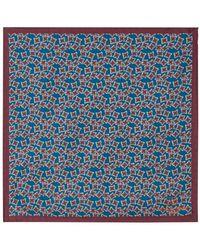 Richard James - Silk Pocket Hank Handrawn Star Print - Lyst