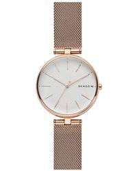Skagen - Signatur Gold Watch - Lyst