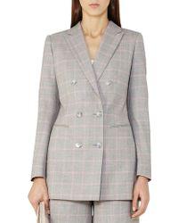 Reiss - Marina Jacket Double-breasted Blazer - Lyst