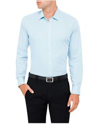 Geoffrey Beene - Stretch Collar Lewis Self Micro Check Slim Fit Shirt - Lyst
