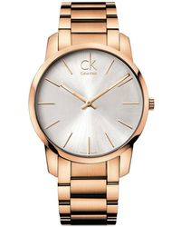 Calvin Klein - City Rose Gold Watch K2g21646 - Lyst