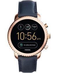 Fossil - Q Explorist Blue Smartwatch - Lyst