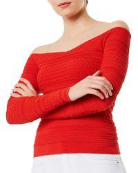 Karen Millen - Perforated Knit Top - Lyst