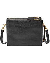 Fossil - Campbell Black Sling Bag Zb7264001 - Lyst