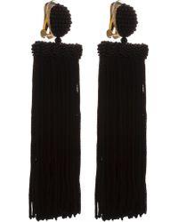 Oscar de la Renta - Long Silk Waterfall Tassel C Earring - Lyst