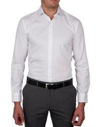 Geoffrey Beene - Algonquin Pique Body Fit Shirt - Lyst