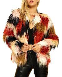 MINKPINK - Multico Fur Coat - Lyst
