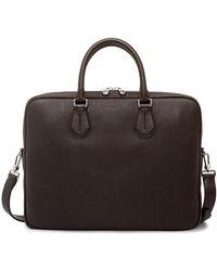 Bally - City Pebbled Leather Slim Shoulder Strap Briefcase - Lyst