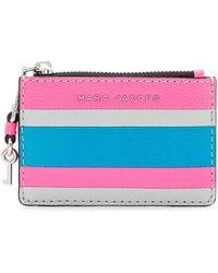 Marc Jacobs - The Grind Colour Blocked Top Zip Multi Wallet (bright Pink Multi) Wallet Handbags - Lyst