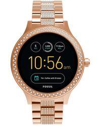 Fossil - Q Venture Rose Gold-tone Smart - Lyst