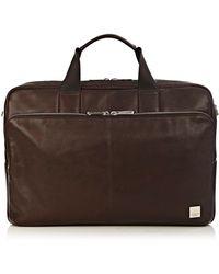 "Knomo - Brompton Classic Amesbury 15"" Double Zip Laptop Brief - Lyst"