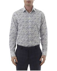 Simon Carter - Seagull Print Single Cuff Shirt - Lyst