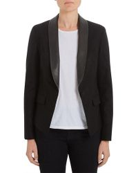AG Jeans - Estelle Blazer True Black - Lyst
