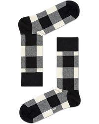 Happy Socks - Lumberjack Checked Cotton-blend Socks - Lyst
