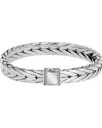 John Hardy - Modern Chain Silver Medium Bracelet - Lyst