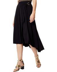 Karen Millen - Belted Midi Skirt - Lyst
