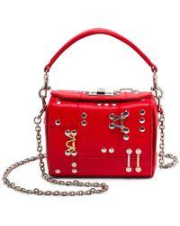 Alexander McQueen - Box Bag Nano With Studs & Piercing - Lyst