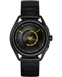 Emporio Armani - Black Stainless Steel Bracelet Touchscreen Smart Watch 43mm - Lyst