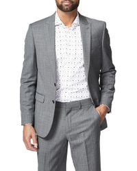 Simon Carter - 2b Sb Cv Wool/pol Check Sharkskin Peak Jacket - Lyst