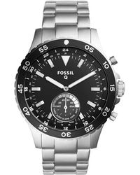 Fossil - Q Crewmaster Stainless Steel Hybrid Smartwatch - Lyst