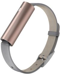 Misfit - Ray- Rose Gold-tone Stainless Steel/grey Leather Band - Lyst