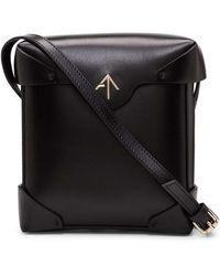 MANU Atelier - Black Pristine Leather Cross Body Bag - Lyst
