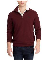 Polo Ralph Lauren - Long Sleeve Double Knit Half Zip Pullover - Lyst