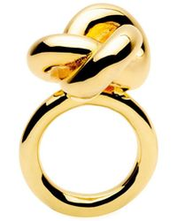Amber Sceats - Big Knot Gold Plated Ring - Lyst