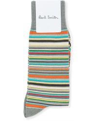 Paul Smith - Multistripe Sock - Lyst