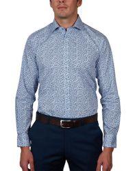 Geoffrey Beene - Steamboat Stripe Print Slim Fit Shirt - Lyst