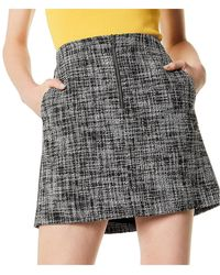 Karen Millen - Tweed Straight Skirt - Lyst