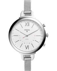 Fossil - Q Annette Silver Hybrid Smartwatch - Lyst