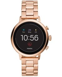 Fossil - Q Explorist Rose Gold-tone Smartwatch - Lyst