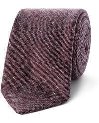 Ted Baker - Plain Linen 7cm Tie - Lyst