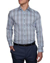 Geoffrey Beene - Camaguey Check Body Fit Shirt - Lyst