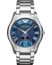Emporio Armani - Valente Silver Watch - Lyst