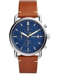 Fossil - The Commuter Chrono Brown Watch - Lyst