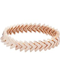 Rebecca Minkoff - Chevron Stretch Bracelet - Lyst
