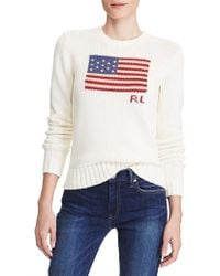 Polo Ralph Lauren - Long Sleeve Flag Sweat - Lyst