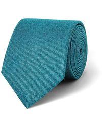 Calvin Klein - Teal Textured Ck Silk Tie - Lyst