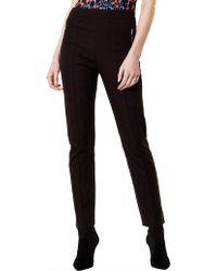 Karen Millen - Stretch Cotton Trousers - Lyst