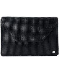 OLGA BERG Starlight Star Mesh Envelope Clutch